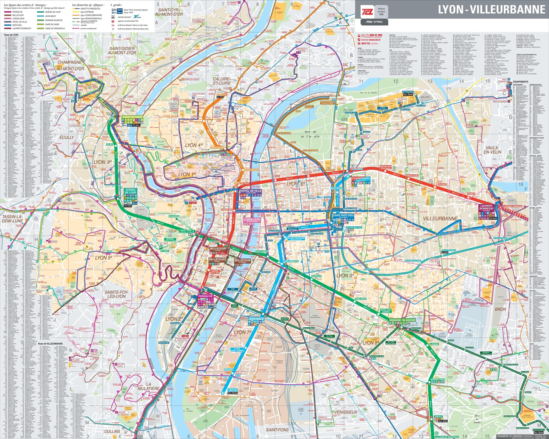 Lyon Karte.Lyon Bus Karte Pdf Lyon Frankreich Bus Karte Auvergne