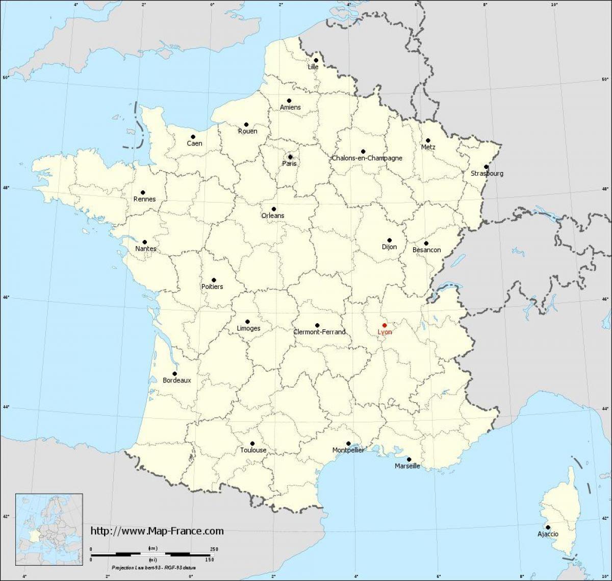 lyon karte Wo ist Lyon in Frankreich anzeigen   Wo ist Lyon in Frankreich in