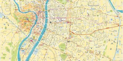 Lyon Karte.Lyon Karte Karten Lyon Auvergne Rhone Alpes Frankreich